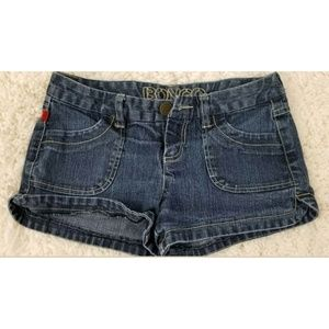 Bongo Juniors Shorts Dark Wash Sz 1